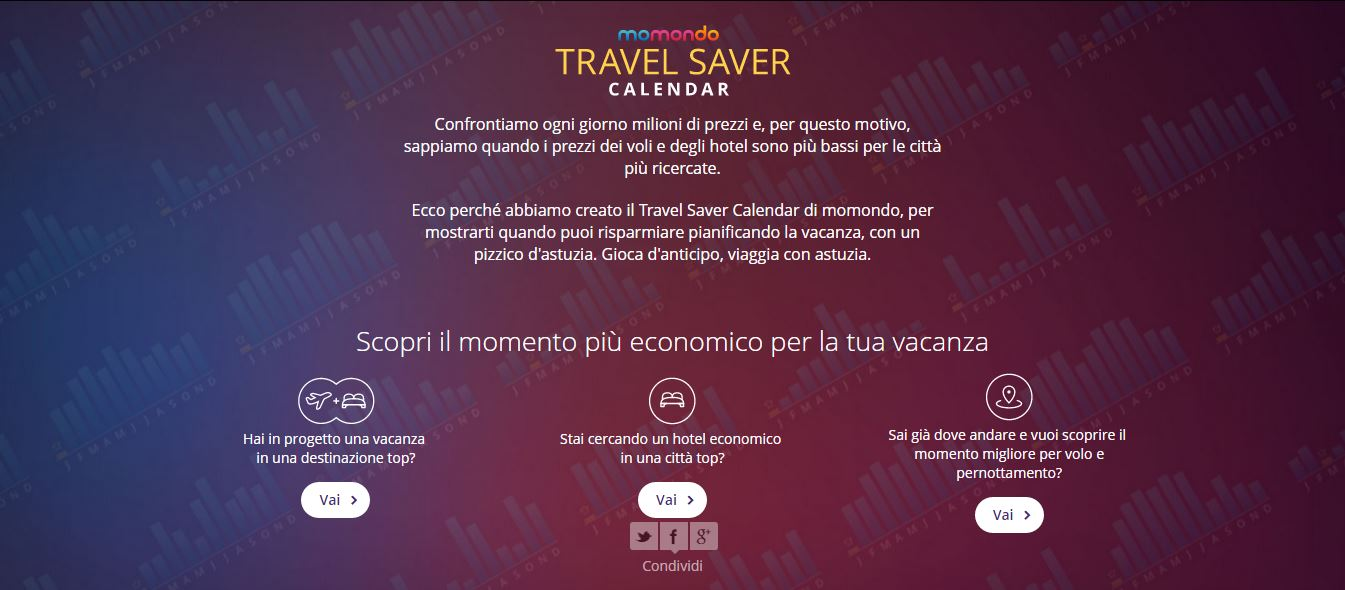 travel saver calendar