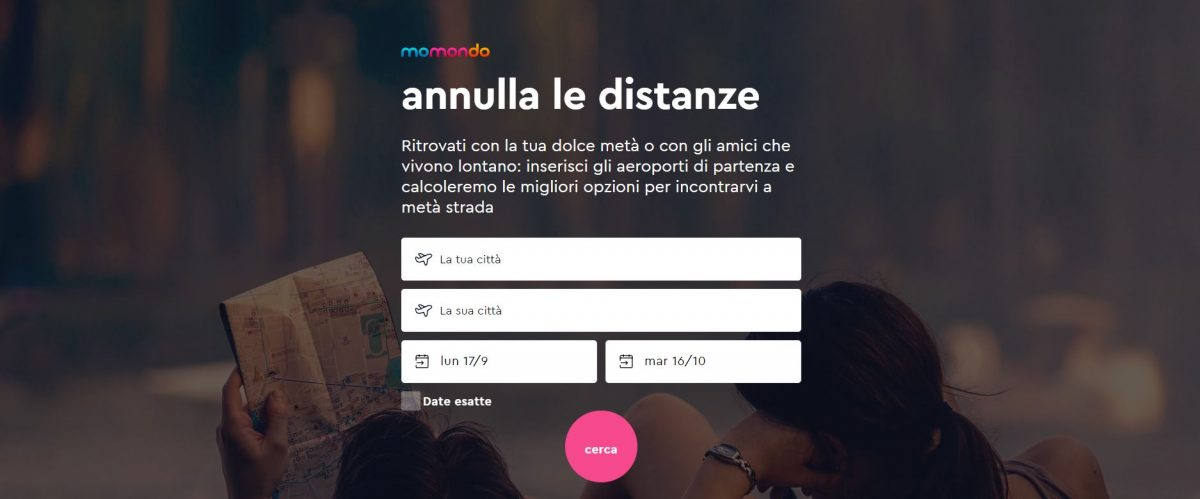 momondo annnulla le distanze