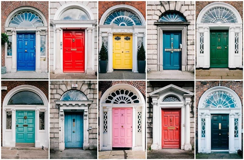 cosa vedere Dublino-Porte-georgiane-vicino-a-Merrion-Square-Copy